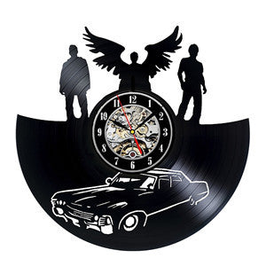 Supernatural Winchesters Vinyl Record Wall Clock