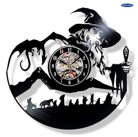 The Lord of the Rings Vinyl Record Wall Clocks