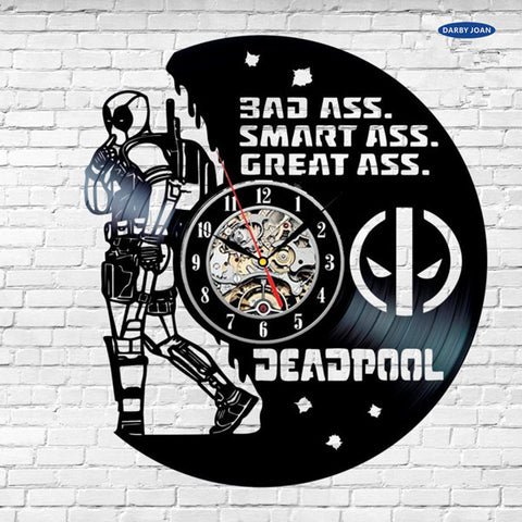 Marvel: Deadpool Funny Vinyl Record Wall Clocks