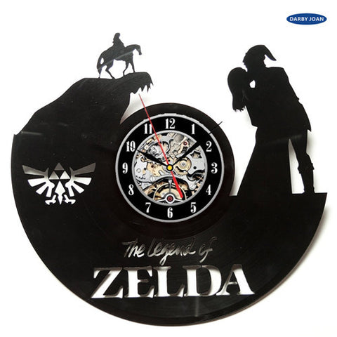 Legend of Zelda Game Limited Edition Vinyl Record Wall Clock