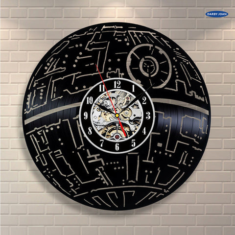 Star Wars Death Star Vinyl Record Wall Clock
