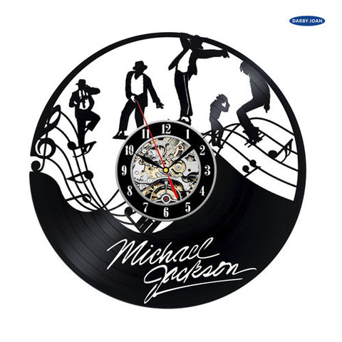 Michael Jackson Vinyl Record Wall Clocks