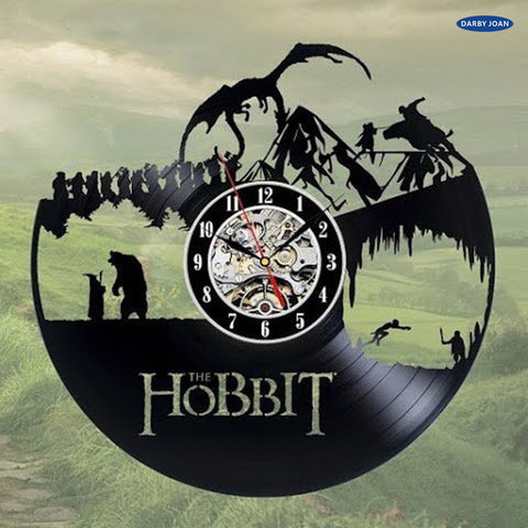 The Hobbit Artistic Theme Vinyl Record Wall Clock