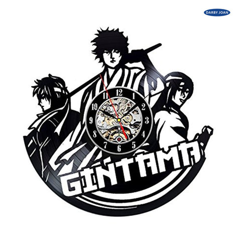 Gintama Vinyl Record Wall Clock