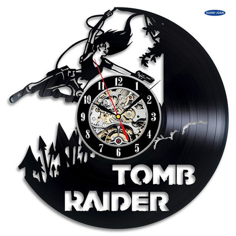 Tomb Raider Vinyl Record Wall Clock