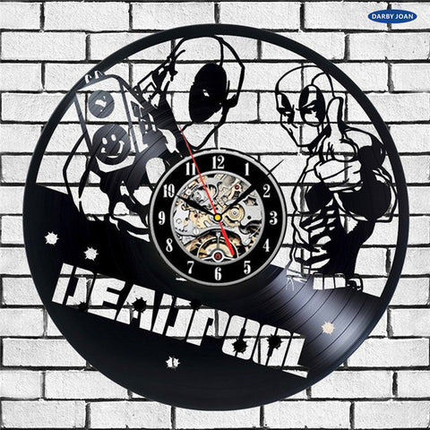 Marvel: Deadpool Vinyl Record Wall Clock