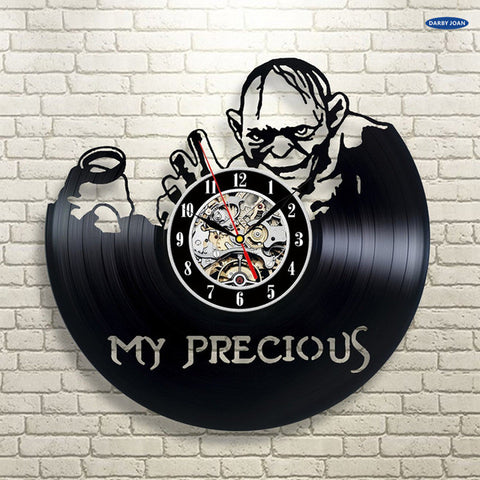 Lord of the Rings: My Precious Smeagle/Gollum Vinyl Record Wall Clock