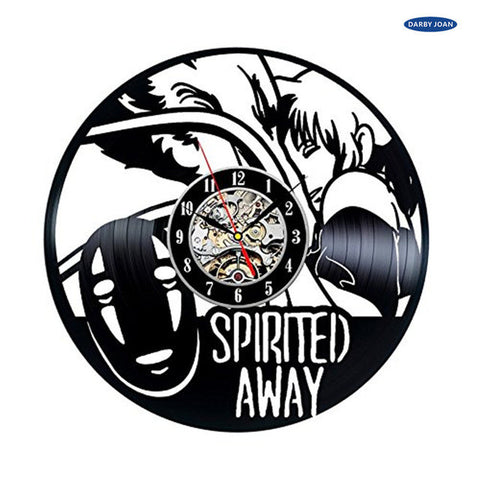 Studio Ghibli Spirited Away Anime Vinyl Record Wall Clock