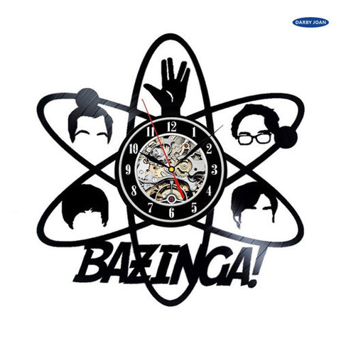 The Big Bang Theory Bazinga Vinyl Record Wall Clocks