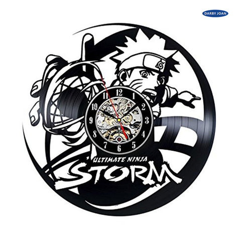 Naruto Ultimate Ninja Storm Vinyl Record Wall Clock