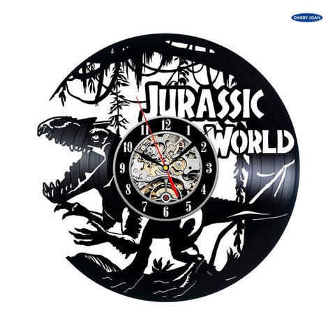 Jurassic World Vinyl Record Wall Clock