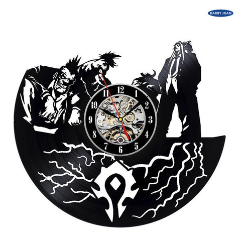 World of Warcraft Creative Vinyl Record Wall Clock