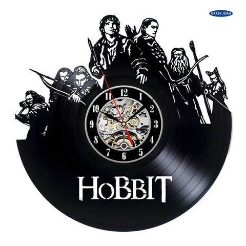 The Hobbit Vinyl Record Wall Clocks