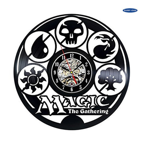 Magic The Gathering Vinyl Record Wall Clock