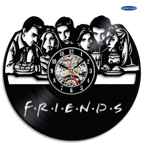 Friends TV Series Vinyl Record Wall Clock