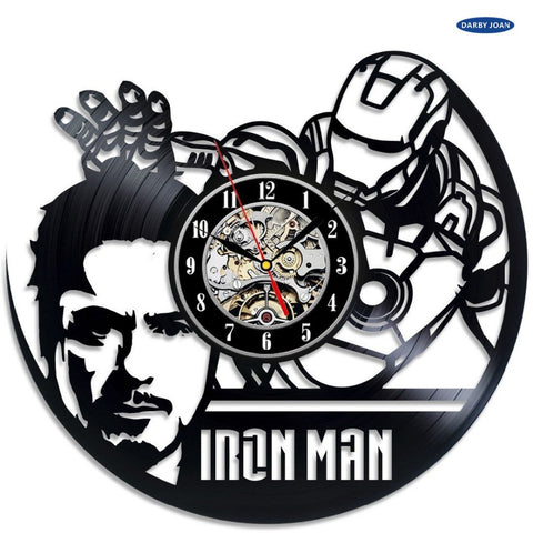 Iron Man Tony Stark Vinyl Record Wall Clock