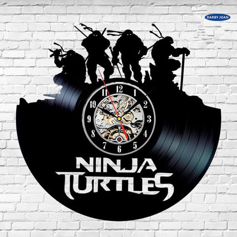 Teenage Mutant Ninja Turtles Vinyl Record Wall Clock