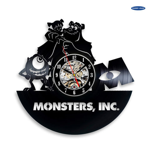 Monsters Inc Vinyl Record Wall Clock