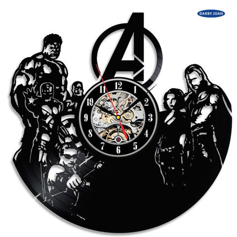 Marvel: The Avengers Team Vinyl Record Wall Clocks