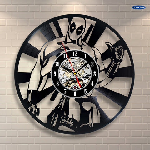 Deadpool the Hero Vinyl Record Wall Clock