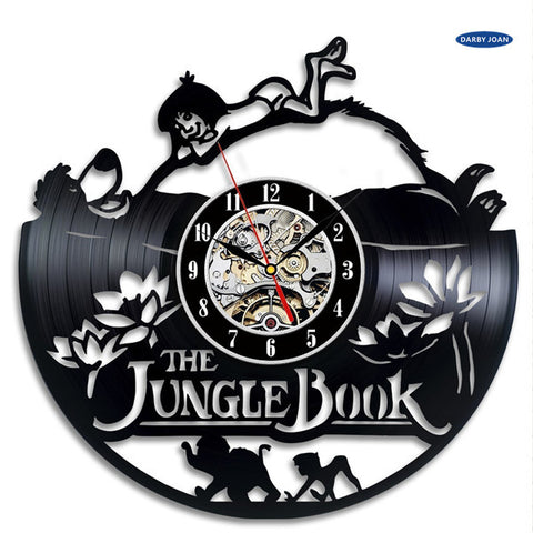 The Jungle Book Cute Vinyl Record Wall Clock