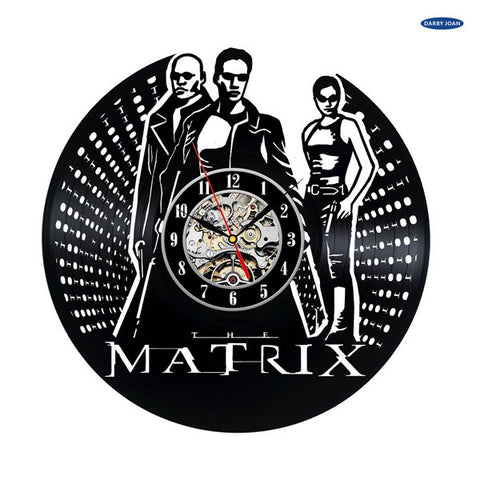 The Matrix Movie Vinyl Record Wall Clock