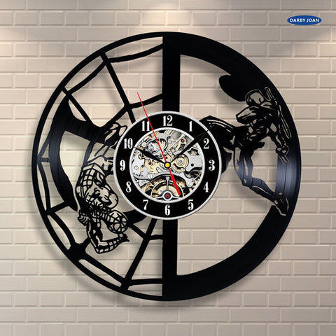 Spider-Man x Deadpool Vinyl Record Wall Clock