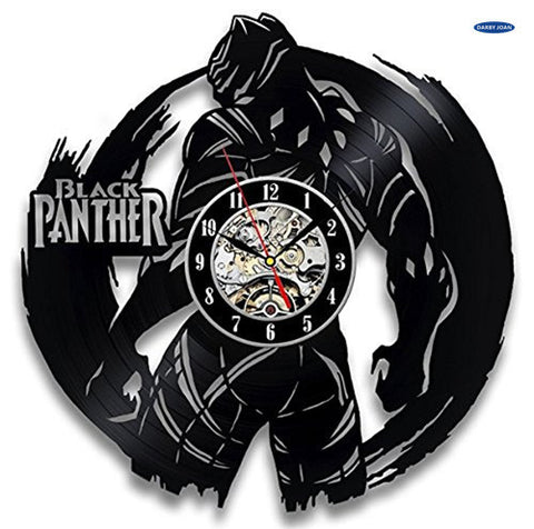 Black Panther Marvel Vinyl Record Wall Clock