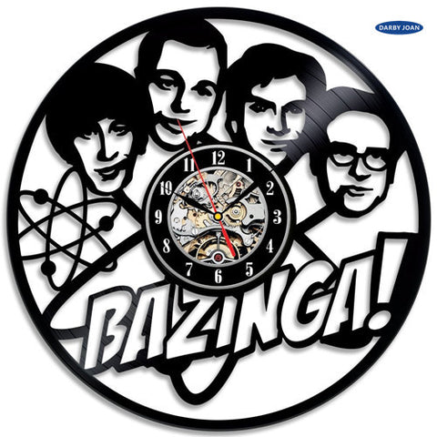 The Big Bang Theory Bazinga Vinyl Record Wall Clock
