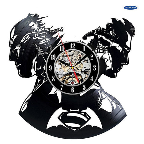Batman vs Superman DC Comics Artistic Vinyl Record Wall Clocks