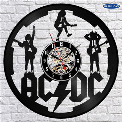 AC/DC Handmade Vinyl Record Wall Clocks