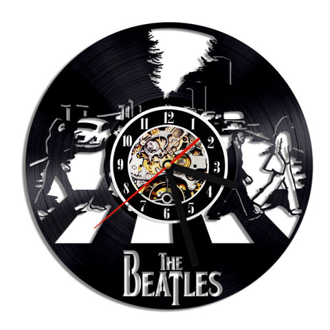 The Beatles Zebra Crossing Vinyl Record Wall Clock
