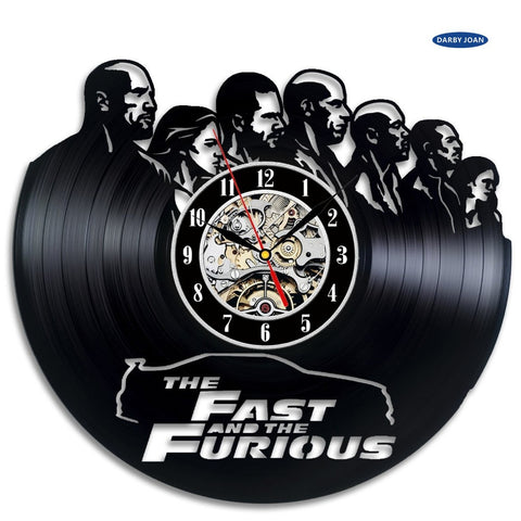 The Fast and the Furious Vinyl Record Wall Clock