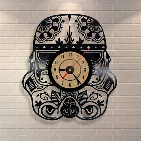 Stormtrooper Helmet Star Wars Vinyl Record Wall Clock - Titan Design & Technology