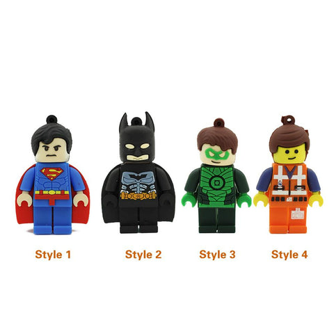 Lego Hero Figures USB 2.0 Flash Drive - Titan Design & Technology - 1