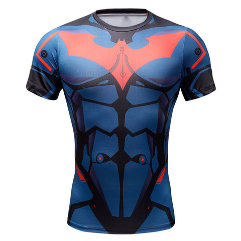 Batman Red Hood Superhero Men's Compression Shirt - Titan Design & Technology - 1