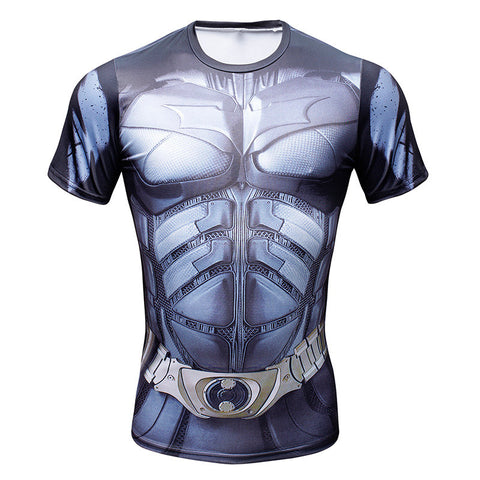 Batman Arkham Asylum Superhero Men's Compression Shirt - Titan Design & Technology - 1