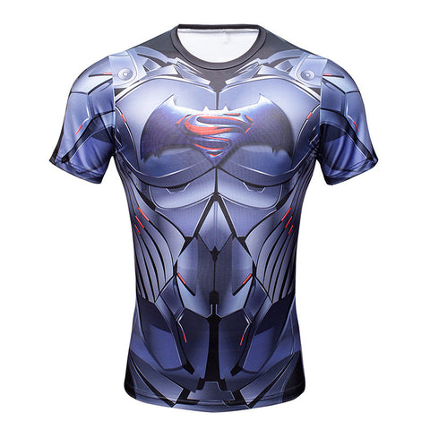 Batman vs Superman DC Superhero Men's Compression Shirt - Titan Design & Technology - 1