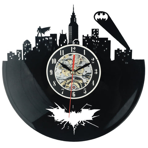 Batman Gotham City Vinyl Record Wall Clock - Titan Design & Technology - 1