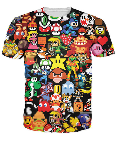 Arcade Games Collage T-Shirt