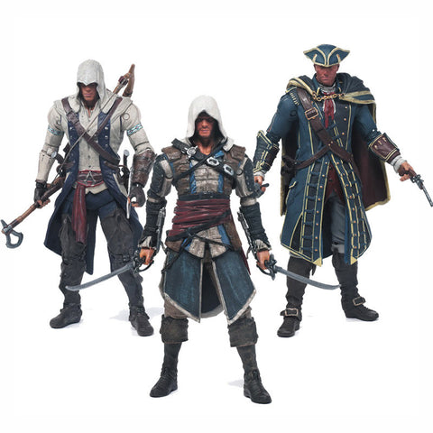 Assassin's Creed 4: Black Flag Connor Edward Kenway Haytham Kenway 14cm Figurines
