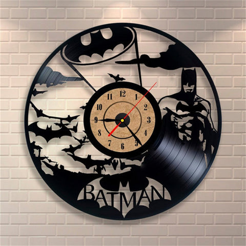 Batman Logo Vinyl Record Wall Clock - Titan Design & Technology