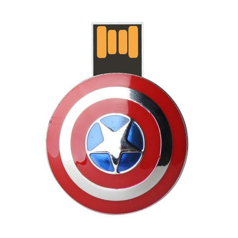 Captain America Shield USB 2.0 Flash Drive - Titan Design & Technology