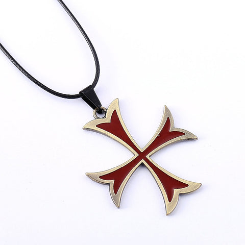 Assassin's Creed Templar Red Cross Necklace