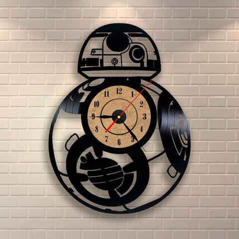 BB-8 Star Wars Vinyl Record Wall Clock - Titan Design & Technology