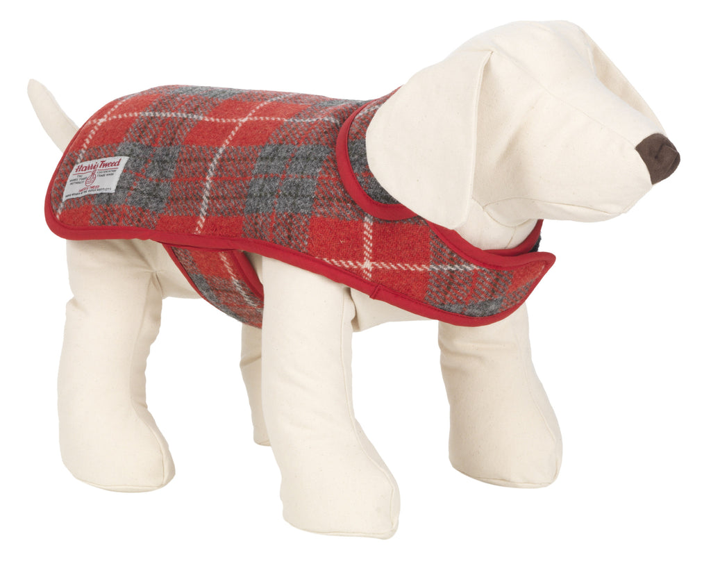 HOXTON TARTAN HARRIS TWEED DOG COAT