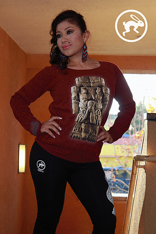 Sweatshirt - Ladies Sponge Fleece Wide Neck - Coatlicue (Mother Earth)