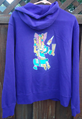 "Hoodie - Unisex Mictlancihuatl ""The Lady of the Dead"" Full Zip-up"