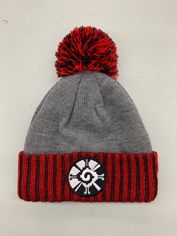 Beanie - Hunab Ku (New Era) Grey and red