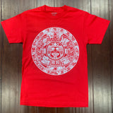 T-Shirt - Aztec Calendar - Red